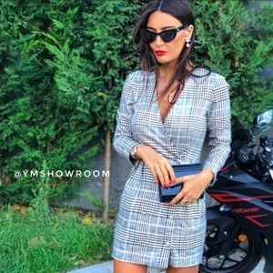 ZARA Checked dress NWT